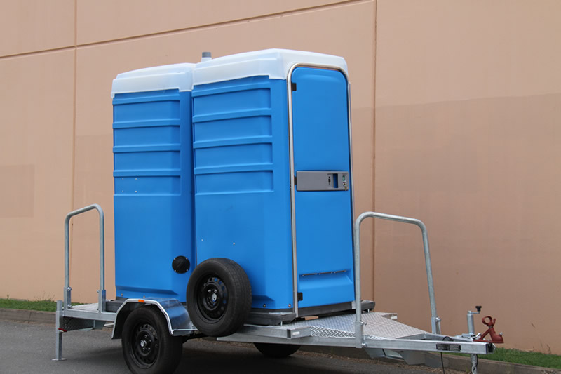 Trailer Units And PortaTrolleys Total Sanitation Solutions - Portable bathroom with shower