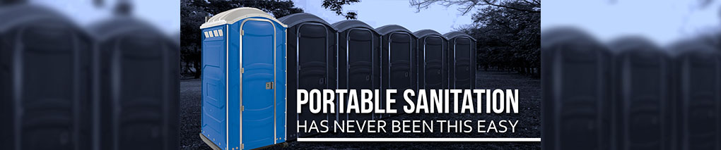 A row of portable toilets-2