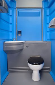 Portable toilets with direct sewer connect options
